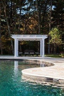 Pool Design and landscape construction by New View, Hopkinton, MA