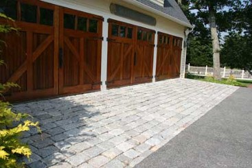 Granite driveway apron by New View