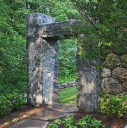 Granite Entry and landscape by New View