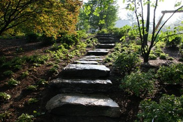 Natural stone steps by New View