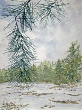 Spring Thaw, Watercolor by Doug DeWolfe of New View