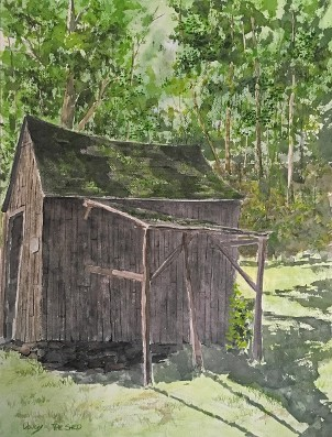 Grandpa's Shed, Watercolor by Doug DeWolfe