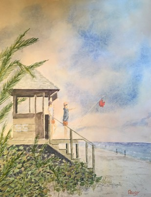 Delray South 5 Stand Watercolor by Doug DeWolfe of New View