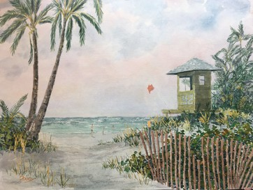 Delray South 2 Watercolor by Doug DeWolfe of New View
