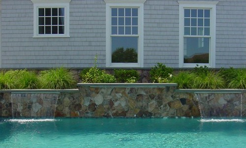 Pool with Waterfalls and Fieldstone by New View