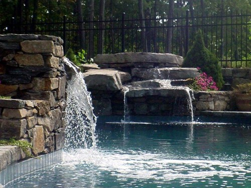 Double Waterfall pool by New View